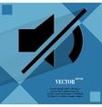 Mute sound flat modern web design on a flat vector