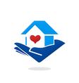 Home love heart logo vector