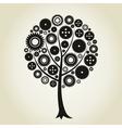 Tree a gear wheel vector