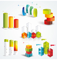 Rich set infographic design vector