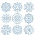 Set of circle winter ornament round geometric vector