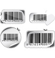 Set of barcodes vector