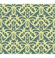 Elaborate golden vintage seamless pattern on blue vector