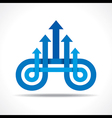 Business icon with arrow vector