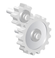 Industrial icon big steel gear vector