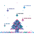 Stylized colorful christmas tree from arrows vector