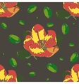 Seamless pattern with apple flower vector