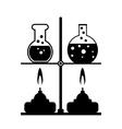 Laboratory equipment vector