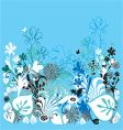 Garden of earthly delights blue vector