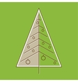 Stylized christmas tree in retro style vector