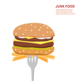 Junk food background isolated vector