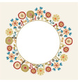 Decorative flower frame with the place for text vector