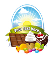 Label with sweets vector