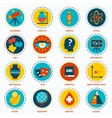 Science areas icons vector