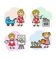 Cartoon woman hobby vector