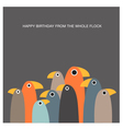 Greeting card with funny birds and text space vector