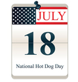 National hot dog day vector