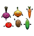 Beet onion carrot tomato potato and cucumber vector
