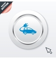 Electric car sign icon hatchback symbol vector