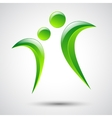 Abstract human figures logo template vector