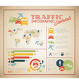 Big set of traffic infographic elements vector