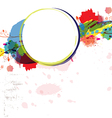 Abstract watercolor paint design artwork vector