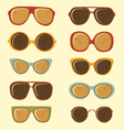 Fashion sunglasses set vector