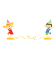 Children jump party vector