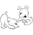 Two puppies vector