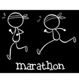 Simple marathon doodle vector