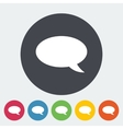Chat flat icon vector