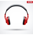 Headphones isolated on white background vector
