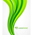 Green wave abstract background vector