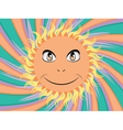 Happy sun face vector