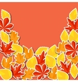 Background with stickers autumn leaves vector