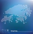 Map of hong kong vector