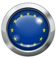 European union flag metal button vector