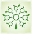 Tree with circles and leaves on the branches vector