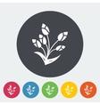Tulip single flat icon vector
