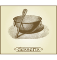 Dessert cover design vector