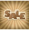 Vintage sale poster vector