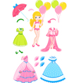 Princess doll vector