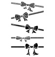 Vintage bows isolated on white background vector
