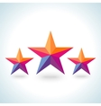 Bright colorful stars shape in modern polygonal vector