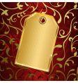 Golden tag vector