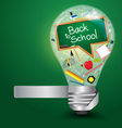 Creative light bulb with back to school concept vector