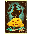 Retro style halloween poster vector