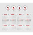 Button calendar 2012 vector