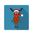 Icon reindeer for flat design vector