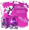 Music background with hand drawn and dance girl vector